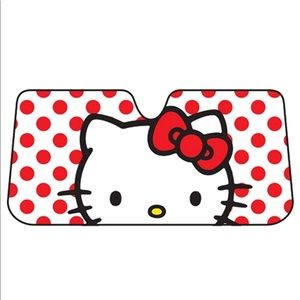 🆕 Hello Kitty Auto sunshade - red polka dot